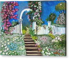Heaven's Gate Acrylic Print by The GYPSY And DEBBIE