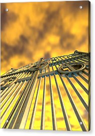 Heavens Golden Gates And Yellow Sky Acrylic Print