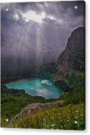 Heavens Open Acrylic Print by Rob Wilson