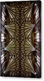 Heavenward -- Winchester Cathedral Ceiling Acrylic Print by Stephen Stookey