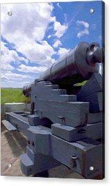 Heavy Artillery Acrylic Print by Jeff Kolker