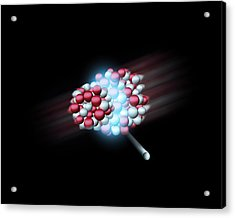 Heavy Atomic Nuclei Colliding, Artwork Acrylic Print by Science Photo Library