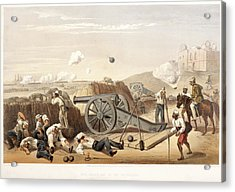 Heavy Day In The Batteries Acrylic Print by British Library