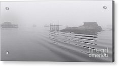 Heavy Fog And Gentle Ripples Acrylic Print by Marty Saccone