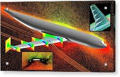 Heavy-lift Transport Aircraft Simulation Acrylic Print