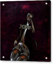 Heavy Metal Girl 2 Acrylic Print by Kim Gauge