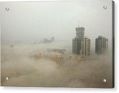 Heavy Smog Hits East China Acrylic Print by Vcg