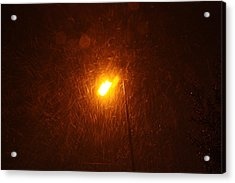 Acrylic Print featuring the photograph Heavy Snows By Lamplight by Jean Walker
