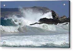 Heavy Surf Action Fernando De Noronha Brazil 1 Acrylic Print by Bob Christopher