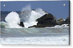 Heavy Surf Action Fernando De Noronha Brazil 2 Acrylic Print by Bob Christopher
