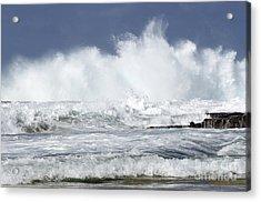 Heavy Surf Action Fernando De Noronha Brazil 3 Acrylic Print by Bob Christopher