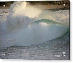 Heavy Surf At Carmel River Beach Acrylic Print