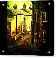 Hebden Bridge Alley Acrylic Print by Helen Stapleton