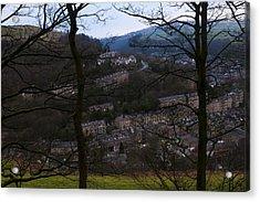 Hebden Bridge Through Trees Acrylic Print