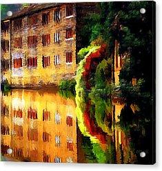 Hebden Bridge Water Acrylic Print by Helen Stapleton