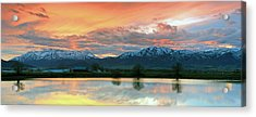Heber Valley Sunset Acrylic Print