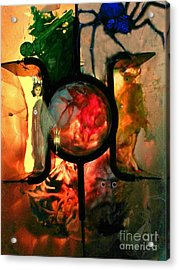 Hecate- Queen Of The Crossroads And Underworld Acrylic Print by Steed Edwards