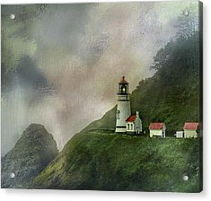 Heceta Head Lighthouse Florence Oregon Acrylic Print by Diane Schuster