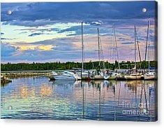 Acrylic Print featuring the photograph Hecla Island Boats II by Teresa Zieba