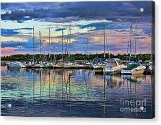 Hecla Island Boats Acrylic Print