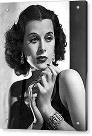 Hedy Lamarr - Beauty And Brains Acrylic Print by Daniel Hagerman