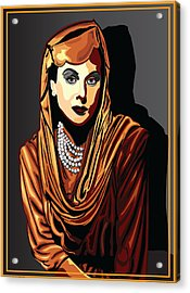 Hedy Lamarr  Hollywood The Golden Age Acrylic Print by Larry Butterworth