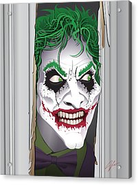 Heeeeeeeres Joker Acrylic Print by James Lewis