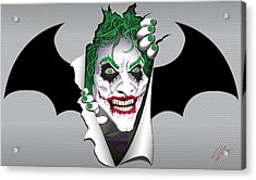 Heeeeeeeres Joker Too Acrylic Print by James Lewis