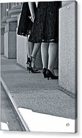 Heels And Lace Acrylic Print