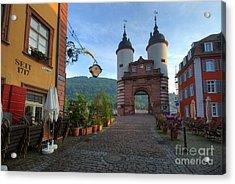 Heidelberg Brueckentor Acrylic Print by Richard Fairless