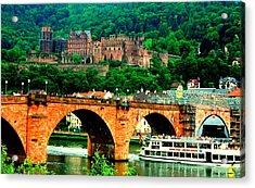 Heidelberg Castle Acrylic Print by Kimo Fernandez