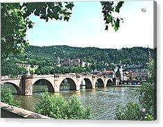 Heidelberg Schloss Overlooking The Neckar Acrylic Print
