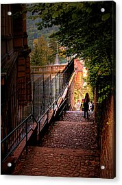 Acrylic Print featuring the photograph Heidelberg Stairway by Jim Hill