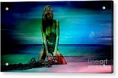 Heidi Klum Acrylic Print