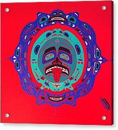 Heiltsuk Sun Four Bears Acrylic Print