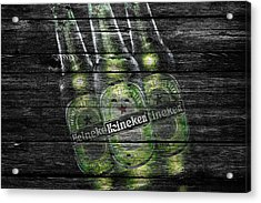 Heineken Bottles Acrylic Print by Joe Hamilton