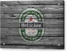 Heineken Acrylic Print by Joe Hamilton