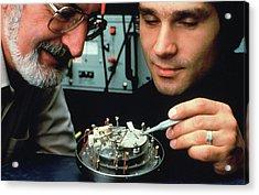 Heinrich Rohrer And Gerd Binnig Acrylic Print by Ibm Research