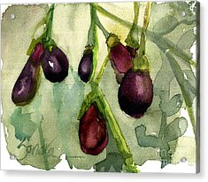 Heirloom Eggplant Acrylic Print by Sandra Stone