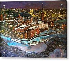 Hej Stockholm Acrylic Print by Belinda Low