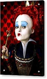 Helena Bonham Carter As The Red Queen In The Film Alice In Wonderland Acrylic Print
