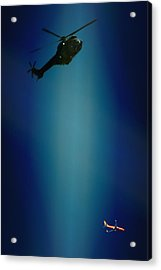 Helicopter Blues Acrylic Print by Paul Job