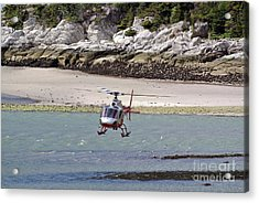 Helicopter Landing In Skagway Acrylic Print