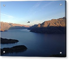 Helicopter Acrylic Print by Ron Torborg