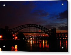 Hell Gate At Night Acrylic Print by Jim Poulos