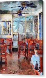 Hellas Restaurant And Bakery  Acrylic Print by L Wright