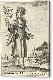 Hellespontic Sibyl, Jan Luyken, Timotheus Ten Hoorn Acrylic Print