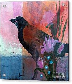 Hello Crow Acrylic Print
