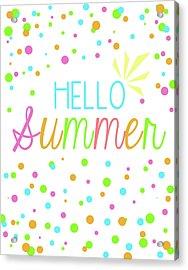 Hello Summer Acrylic Print