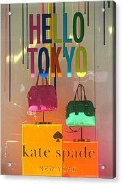 Hello Tokyo Acrylic Print